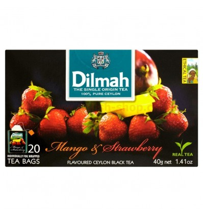 Thé Mango & Strawberry Dilmah 20 sachets