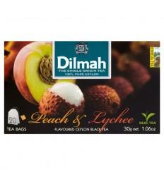 Herbata Peach & Lychee Dilmah 20 torebek