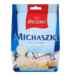 Cukierki Michaszki białe z orzechami Mieszko 100g (na wagę)
