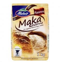 Mąka pszenna razowa Melvit 1kg