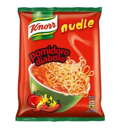 Zupa błyskawiczna Nudle Pomidorowe pikantne Knorr 63g