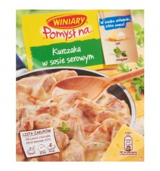Pomysł na.. kurczaka w sosie serowym Winiary