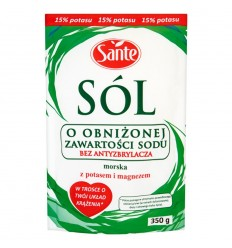 Sól o obniżonej zawartości sodu Sante 350g