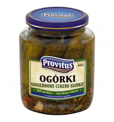 Ogórki konserwowe Cukero-Słodkie Provitus 640g