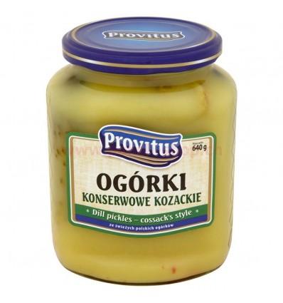 Ogórki konserwowe Kozackie Provitus 640g