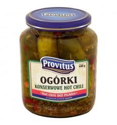 Ogórki konserwowe Hot Chili Provitus 640g