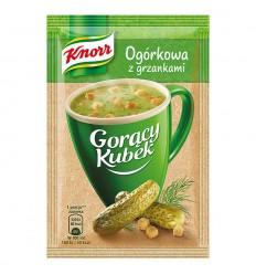 Gorący Kubek Ogórkowa z grzankami Knorr