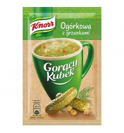 Cucumber instant soup with croutons Knorr 13g