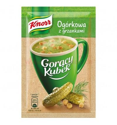 Soupe instantanée Goracy Kubek: Soupe de concombres aux