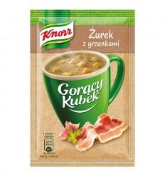 Gorący Kubek Żurek z grzankami Knorr
