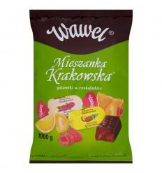 Cukierki Mieszanka Krakowska galaretki w czekoladzie Wawel 100g