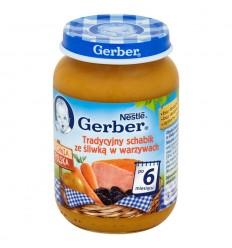 Danie Tradycyjny schabik ze śliwką w warzywach po 6 miesiącu Gerber 190g