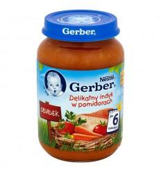 Delikatny indyk w pomidorach po 6 miesiącu Gerber 190g