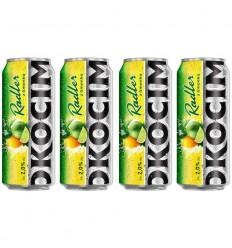 4x Piwo Okocim Radler limonka puszka 500ml