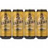 4x Bière blonde Tatra en boîte 500ml