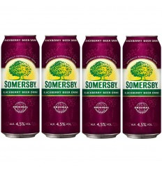4x Piwo Somersby Blackberry puszka 500ml
