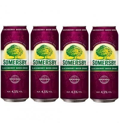 4x Somersby Blackberry Bier Dose 500ml