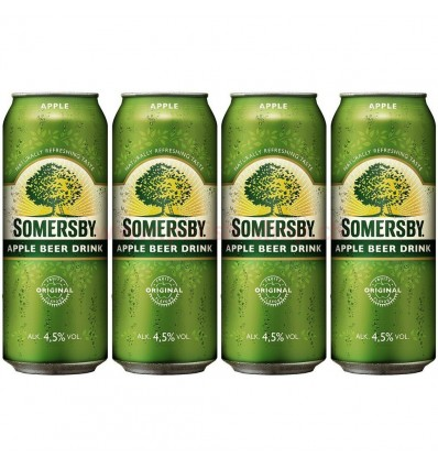 4x Piwo Somersby Apple puszka 500ml