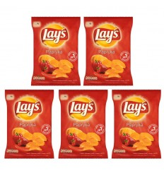 5x Chipsy Lay's/Lays papryka 80g