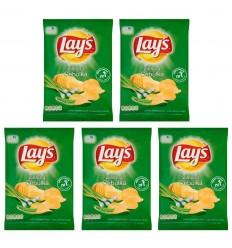 5x Chipsy Lay's/Lays zielona cebulka 80g
