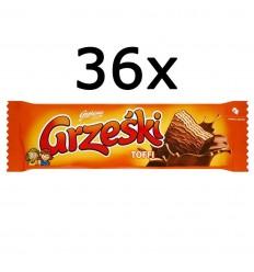 36x Wafel toffi Grześki 36g