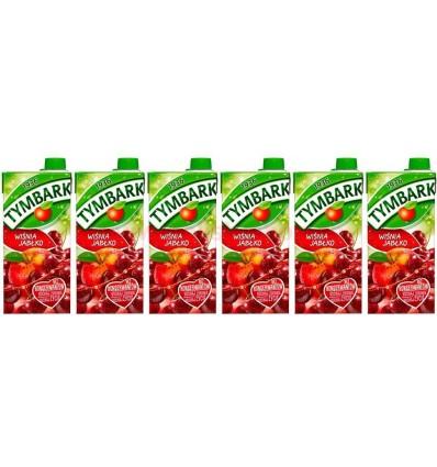 6x Tymbark Kirsche-Apfel Fruchtgetränk 1l