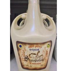 Miód pitny Trójniak Staropolski Tradycyjny 500ml