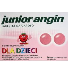 Tabletki na gardło dla dzieci Junior-Angin 24 tabletki