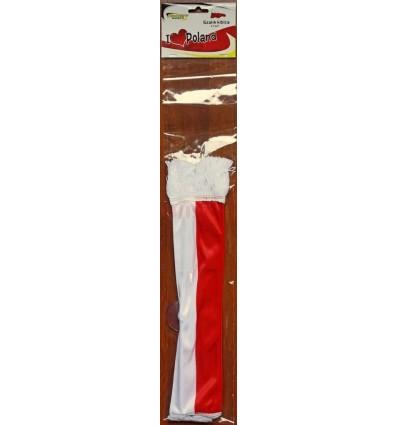 Poland Polska - football fan scarf with a suction cup 35x9cm