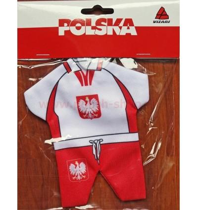Polen Polska - mini T-Shirt mit Saugnapf Vizari