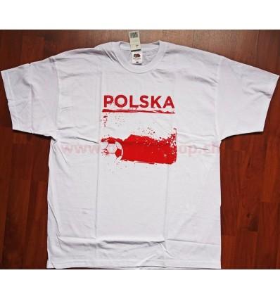 """Poland Polska - t-shirt """"Polska"""" white L"""