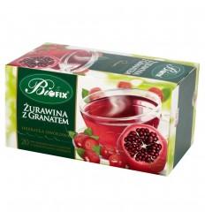 Herbata Żurawina z granatem Bifix 20 torebek