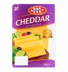 Ser żółty Cheddar Mlekovita 150g plastry