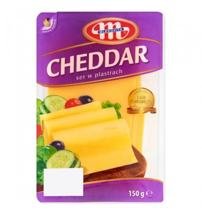 Fromage Cheddar Mlekovita 150g tranches