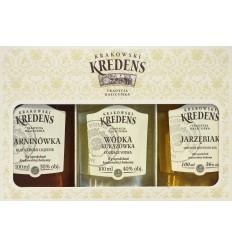 Miniaturki Krakowskie zestaw alkoholi Krakowski Kredens 3x100ml
