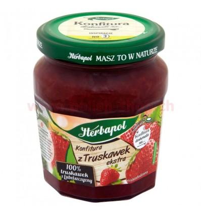 Confiture aux fraises extra Herbapol 240g