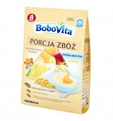 Porcja Zbóż kaszka mleczna 3 owoce Bobovita 210g