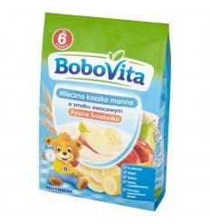 Kaszka manna mleczna o smaku owocowym Pyszne Śniadanko Bobovita