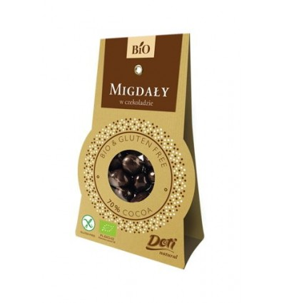 Chocolate-covered (70%) almonds Doti 50g