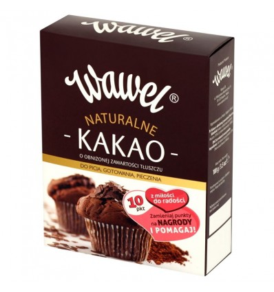 Natural cocoa reduced fat Wawel 100g