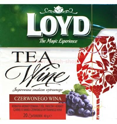 Herbata o smaku czerwonego wina Loyd 20 torebek