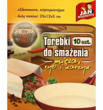 Torebki do smażenia mięsa i warzyw Jan Niezbędny 10 szt.