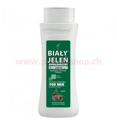 Hipoalergiczny żel i szampon for men Biały Jeleń 300ml