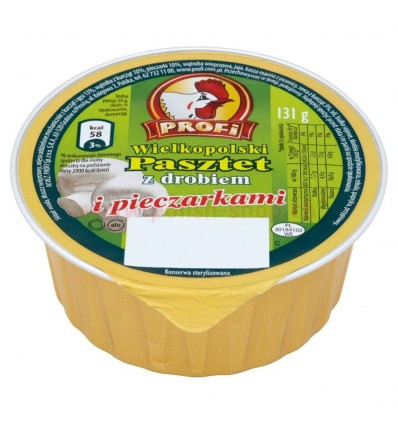 Pate with poultry and champignons Wielkopolski Profi 131g
