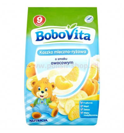 Kaszka mleczno-ryżowa o smaku owocowym Bobovita 230g