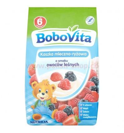 Kaszka mleczno-ryżowa o smaku owoców leśnych Bobovita 230g