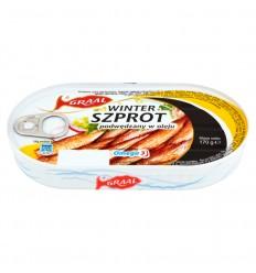 Ryba Szprot podwędzany w oleju Graal 170g