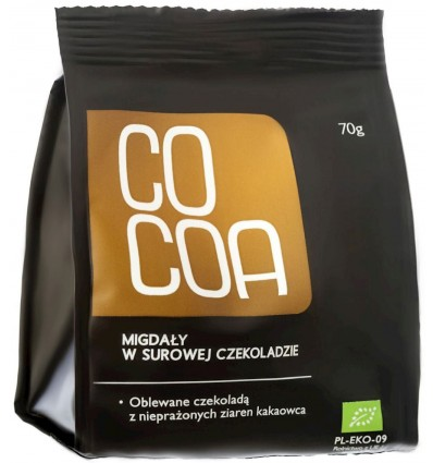 Chocolate-covered almonds Raw Cocoa 70g