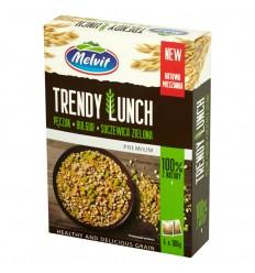 Kasza Trendy Lunch kasza pęczak, bulgur, soczewica zielona Melvit 4x100g