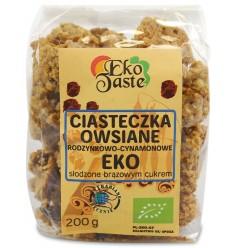 Ciasteczka owsiane rodzynkowo-cynamonowe Eko Taste 200g